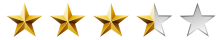 Image result for 3 out of 5 stars png